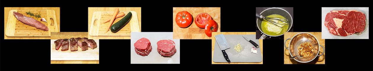 kochen, essen und fotografieren